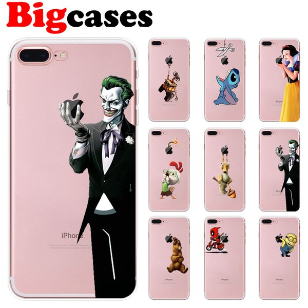 For iphone 7 8 6 6S Plus X XS Max XR 5 5S SE Case Cover Soft TPU Silicone Fashion Design Phone Shell