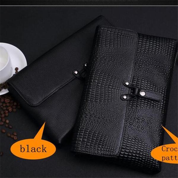 Fábrica de marca própria homens saco de crocodilo de negócios padrão de couro envelope saco de embreagem homem deve embrear em couro embreagem de couro moda garra