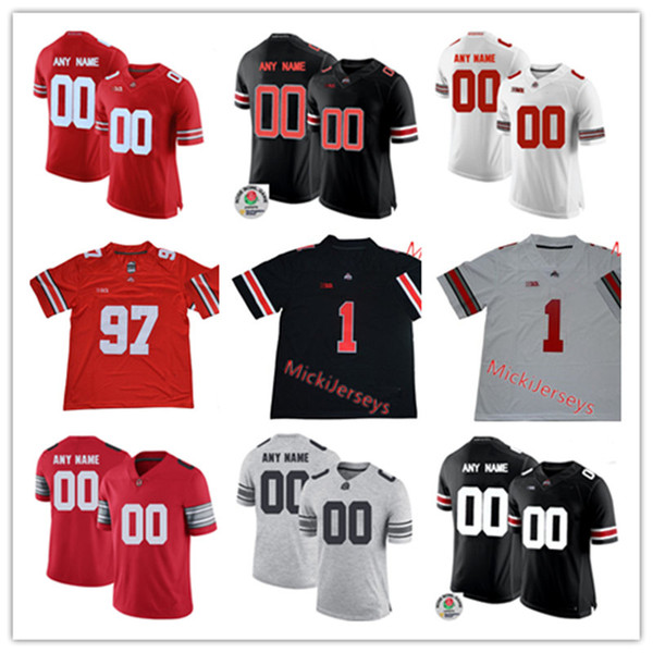 huge discount bb98b 27e0f 2019 Custom Ohio State Buckeyes Football Jersey Tommy Togiai Isaiah Prince  Dre'Mont Jones Kendall Sheffield Drue Chrisman Michael Thomas Jersey From  ...