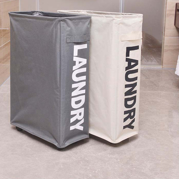 Foldable Dirty Laundry Basket with Caster Wheels Portable Dirty Clothes Organizer Storage Basket High Capacity Laundry Bags Case