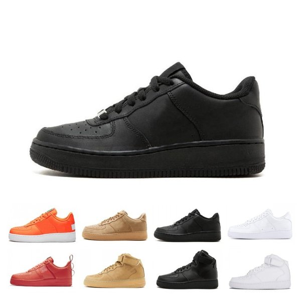 Yeni Stil Yüksek Düşük Kesim programı siyah Dunk Flyline 1 Rahat Ayakkabılar Klasik Erkek Kadın Kaykay Beyaz Buğday Eğitmenler spor Sneakers
