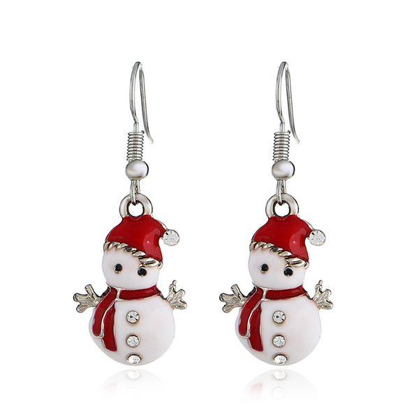 Wish Heat Selling Christmas Snowman Earrings Personality Fashion Lovely A Doll Earrings Gift