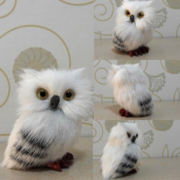 Simulation Model White Plush Hedwig Owl Toy Doll Animal Gift Decor