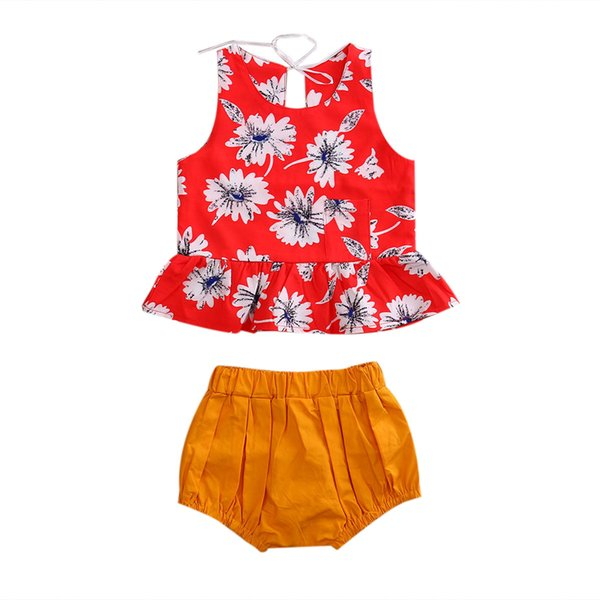 2 Pcs 2017 New Baby Girl Floral Clothing Set Toddler Baby Kid Girls Clothes Vest Tops Shorts Outfits Set Clothing 2 Pcs 2017 New Baby Girl Floral Clothing Set Toddler Baby Kid Girls Clothes Vest Tops Shorts Outfits Set Clothing