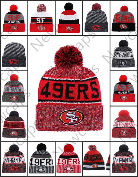 68f1cb9d Wholesale San Francisco Sport Winter Hats 49ers Stitched Team Logo Brand  Warm Men Women Hot Sale Knitted Caps Cheap Mixed Beanies