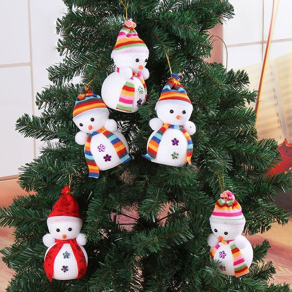 Exclusive Christmas Decoration For Home X'masTree Hanging Decorations Snowman Doll Children's Gift Tiny Toy Random Color