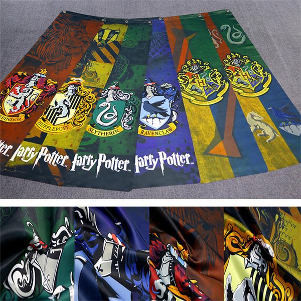 Nouveau Poudlard collège Harry Potter rétro patchwork filet drapeau 34 * 125cm Harry Potter décoration murale bar Harry Potter drapeau T3I5585