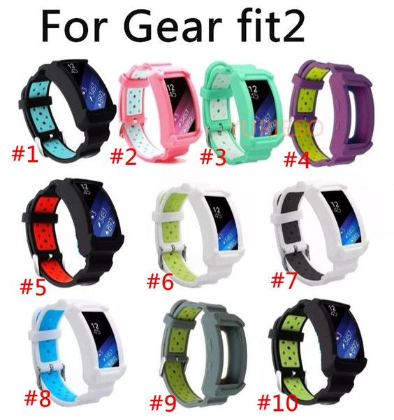 Adjustable Smart Watch Wrist Watch Bands Belt Protective Frame Strap for Samsung Gear Fit2/Gear Fit 2 Pro Sport