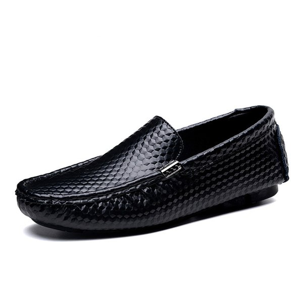 Plus Size 38-47 Men Casual Shoes Genuine Leather Italian Men Loafers Moccasins Luxury Slip On Mens Driving Shoes