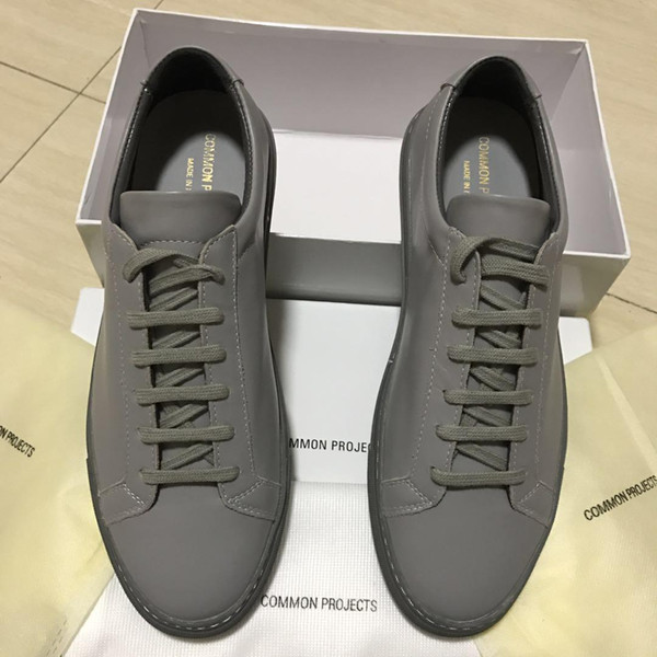 Herren Designer Luxus Freizeitschuhe Weiß Herren Damen Sneakers Advanced Material Italien Marke Common Projects Echtes Leder mit Box Größe 35-46