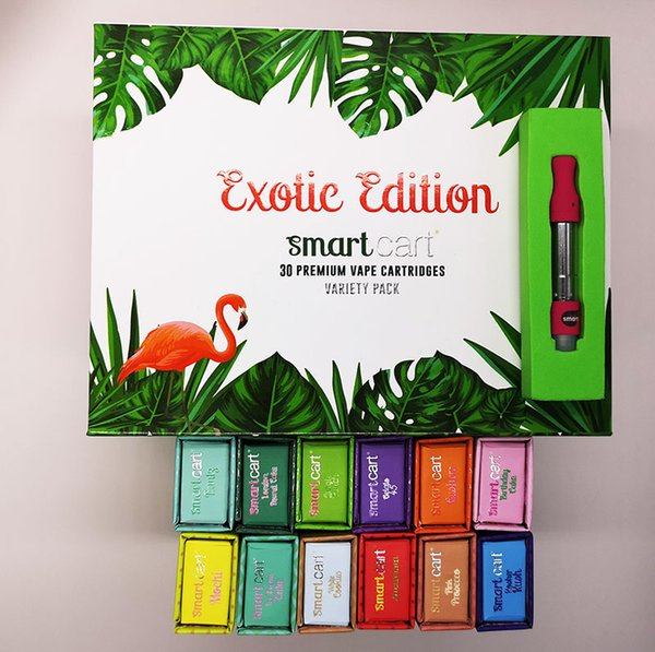 Smart Bud Exotic Edition Vape Carts Vape Pen Cartridges Empty Tank Magnetic Packing Box 0.8 ml Ceramic Coil Copper Tip Foam Packing