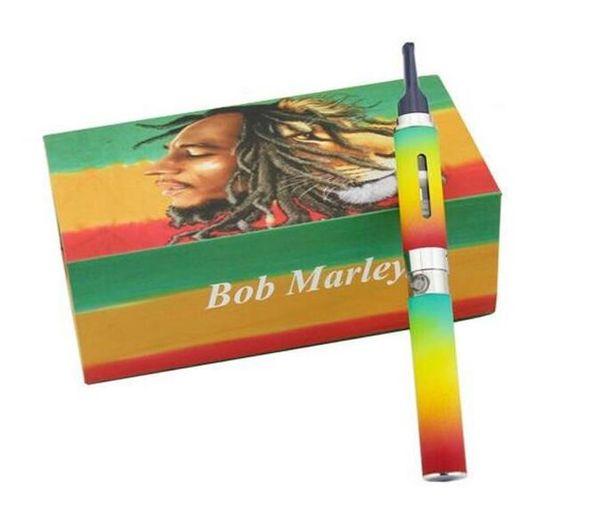Bob marley caja kit seco a base de hierbas plumas vaporizador vape cera hierba seca atomizador ajuste para ego-t batería