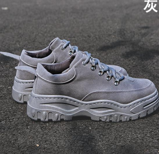 Mens Sneakers Platform 2019 New Spring Hot Sale Shoes For Men Chunky Sneakers gris respirable cómodo