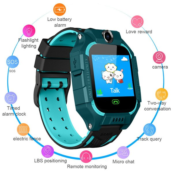Anti-lost Smart Watch GPS Tracker SOS Call GSM SIM Xmas Gifts For Child Kids US