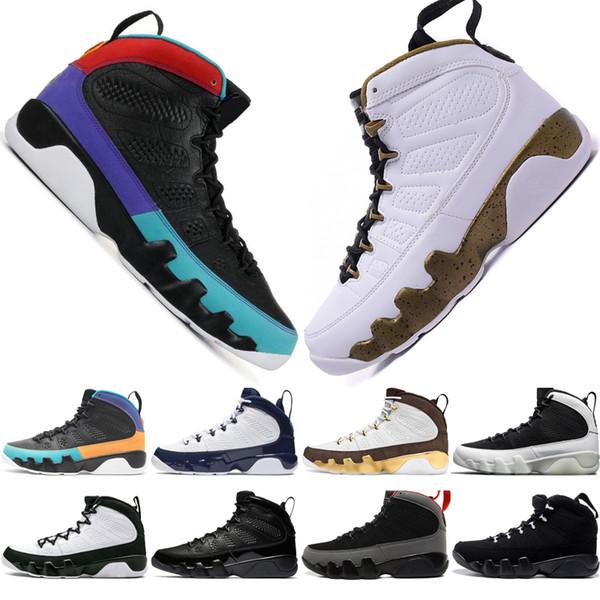 Venta caliente 9 9s Dream It Do It UNC Mop Melo Zapatillas de baloncesto para hombre LA OG Space Jam hombres Bred Antracita Negro zapatillas deportivas diseñador Eur 40-47