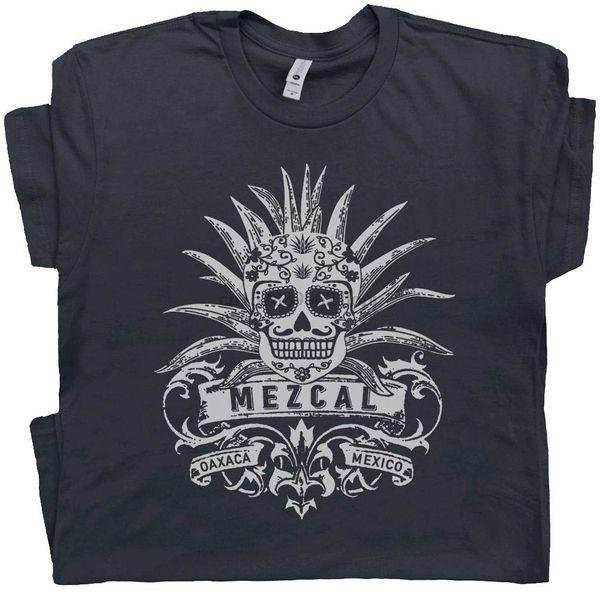 Mezcal Camiseta Tequila Tee Sugar Mescal Crânio Gráfico Tijuana México Dia De Los Muertos Margarita Mens Womens