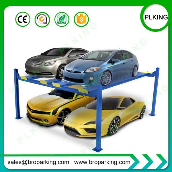 4000kg capacity Pole Lift Parking 4 Cars Lift Economic Favorable Home Garage