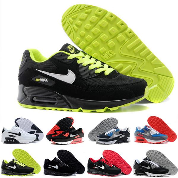 nike air max 90 airmax Amortiguador de aire de alta calidad Zapatos para correr casuales Barato Negro Blanco Rojo Hombres Mujeres Zapatillas de deporte Clásico Air90 Entrenador