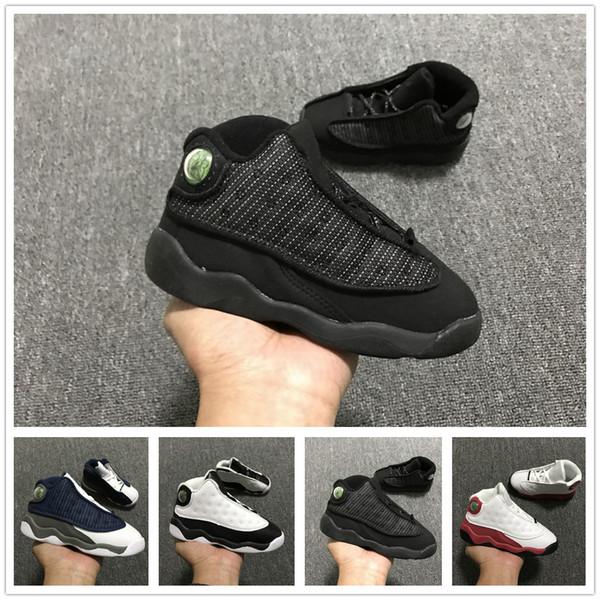 fashion style low priced hot sale online Acheter Nike Air Jordan Aj13 En Gros De Nouveaux Enfants Chaussures 6 13  Anneaux VI Enfants Chaussures De Basket Ball Bébé Garçon En Bas Âge  Sneakers ...