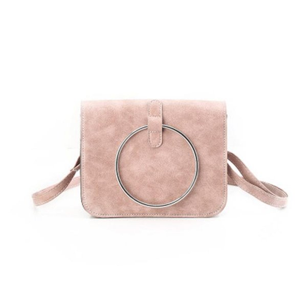 Korean Ring Small Square Shoulder Tote Bag Mini Messenger Crossbody Hand Bags For Ladies Handbags Storage Totes Purse Pouch Bag