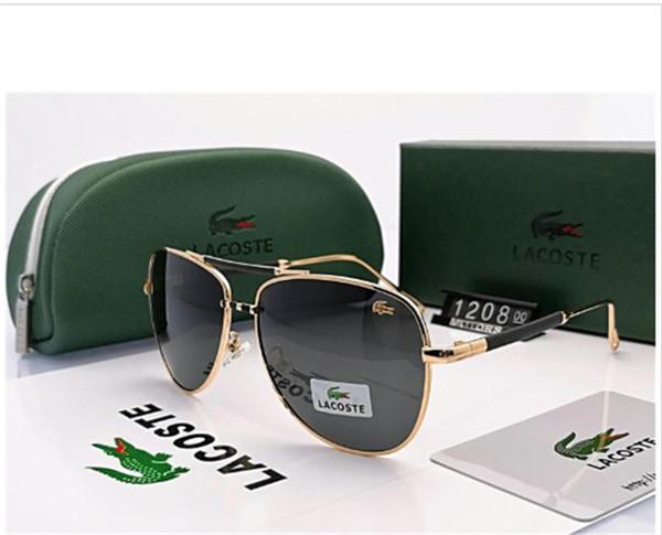 2019 neue Luxur Top-Qualität Classic Pilot Sonnenbrille Designer Brand fashion Mens Womens Sonnenbrille Brillen Metall Glaslinsen mit Box