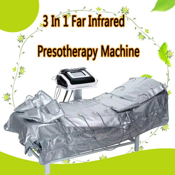 3 In 1 Far Infrared Pressotherapy EMS Electric Muscle Stimulation Sauna Air Pressure Pressotherapy Lymph Drainage Body Slimming Machine