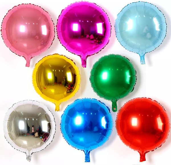 50pcs / lot 18inch del banquete de boda redondo sólido de color de la hoja del globo del cumpleaños puro Ronda helio decoración Balaos Cabritos Juguetes bola