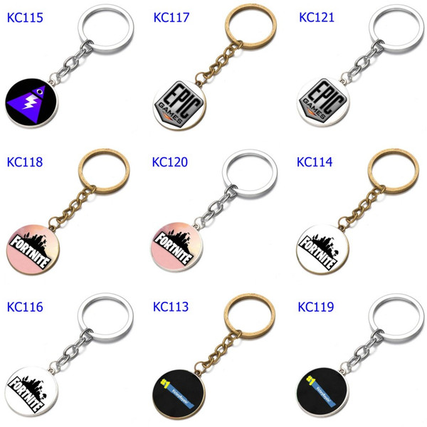 74 Styles 2 Colors Keychains Various Smiley Face Expression Keychains Time Gem Single Side Cartoon Games Keychain Mix Order