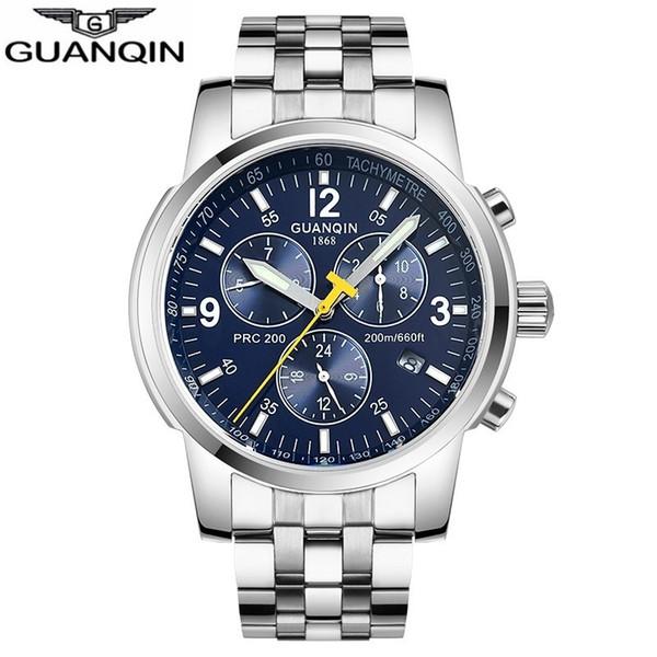 Guanqin 2018 Automatic Mechanical Clock Men Sport 200m Resistant Swimming Diver Waterproof Men's Watch Relogio Masculino Zegarek J190706