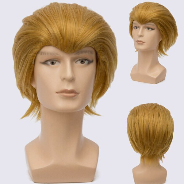 Short Blonde Yellow BOY MALE ANIME SHOW COSPLAY COSTUME WIG