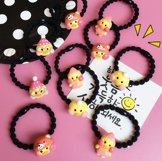 Cute little cute chicken net red duck cartoon duck hair band rubber band jewelry creative fashion home decoration