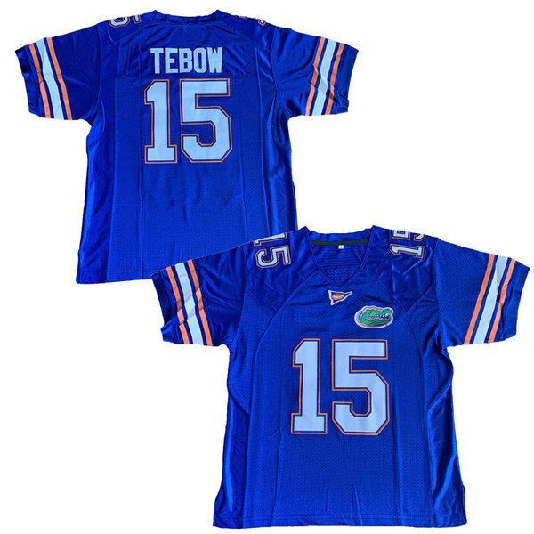 Florida Gator 15 Tim Tebow College Football Jersey Men Blue Free Shipping Stitched name and number