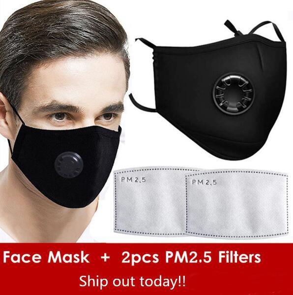 1pcs masque noir + 2pcs Filtres