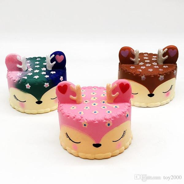 Squishy Toys squishies Conejo tigre unicornio pastel panda piña oso torta sirena Crecimiento lento Squeeze Lindo teléfono celular Correa regalo para niños a