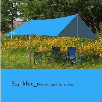 300cm*290cm outdoor awning camping shade canopy gazebo for garden single tent sun shelter beach 15 colors