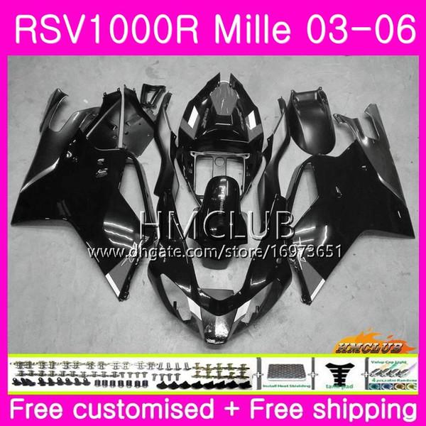 Body For Aprilia RSV1000R Mille RSV1000 R RR 03 04 05 06 Bodywork 38HM.42 RSV1000RR RSV 1000 2003 2004 2005 2006 03 06 Fairing Grey black