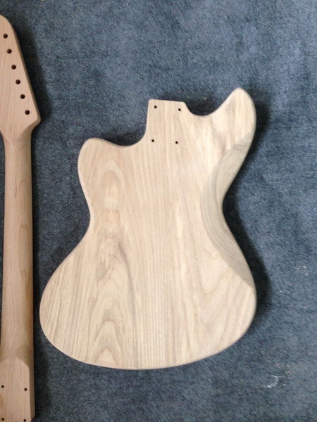 Free shipping Factory sell ASH body guitar kits /unfinished guitar no including parts bighead headstock