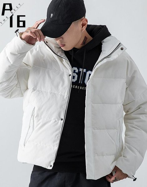 A16 Men's Cotton Jacket Men's Jacket Winter New Korean Thick Loose Cotton Youth Warm Casual Top