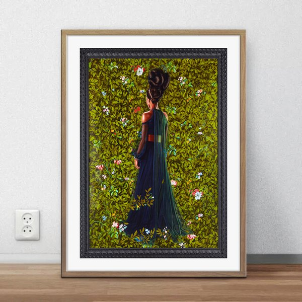 Princess Victoire of Saxe-Coburg-Gotha Kehinde Wiley Painting Art Poster Wall Decor Pictures Art Print PosterUnframe 16 24 36 47 Inches