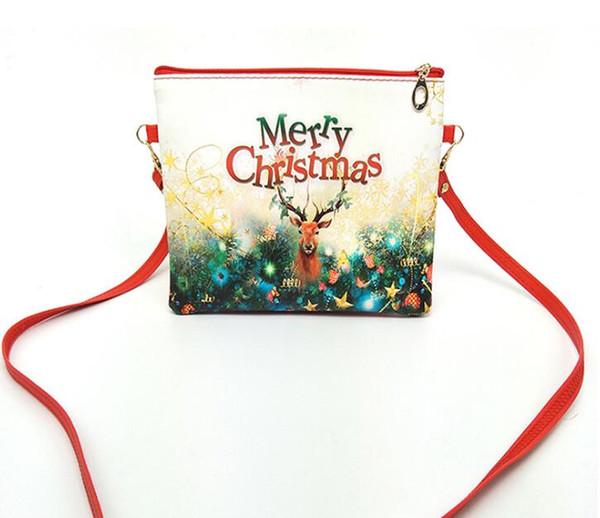 Christmas Candy Bags Kids Cartoon Snowman Bag Childen One-shoulder Backpacks 20.5*19.8 cm 5 p/l