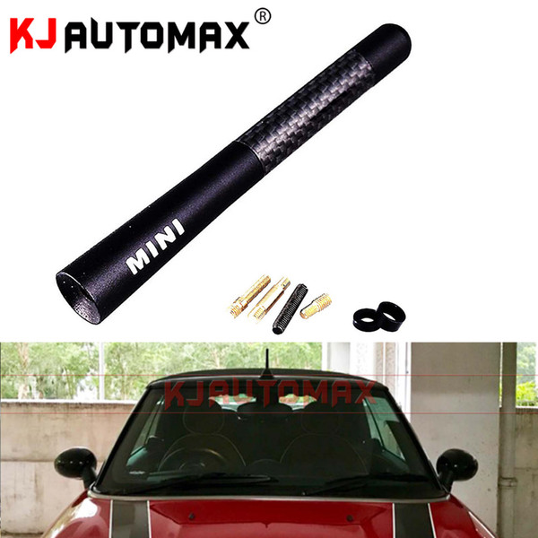 car accessories sticker For Mini Cooper Carbon Fibre Fiber Car Styling oof Antenna Aerial 50 53 55 56 57 R58 R59 R60