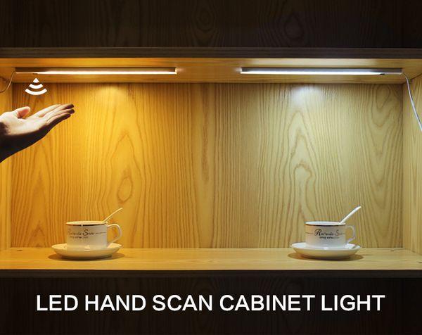 Main Vague Contrôle Cuisine Lumières LED Bar Lumière Armoire Garde-robe Bar Lampe LED 30 / 50cm Détecteur De Mouvement Main Scan Balayage Cuisine Lumières JK0003