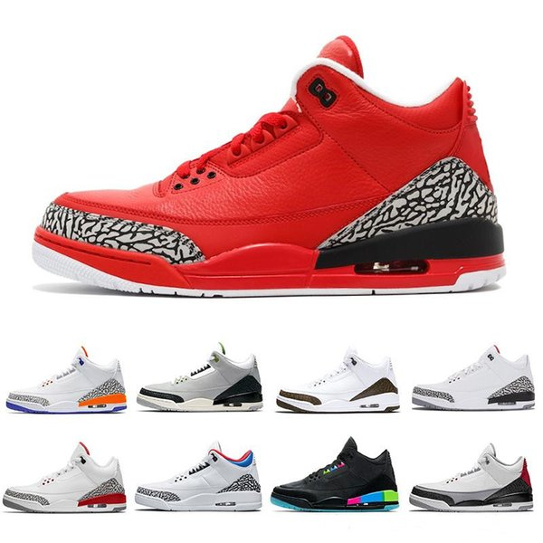 New 3s Pure Black white Cement 3 Mens Basketball Shoes Tinker Katrina JTH Free Throw Linell Chicago OG Royal Michael Sneakers