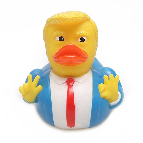 Cute Trump Duck Bath Toy Shower Water Floating US President Rubber Duck Baby Toy Water Toy Shower Duck Child Bath Float