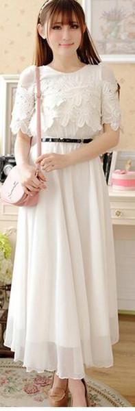 новый летний корейский мода темперамент элегантный Shitsuke бутон шелковое шифоновое платье