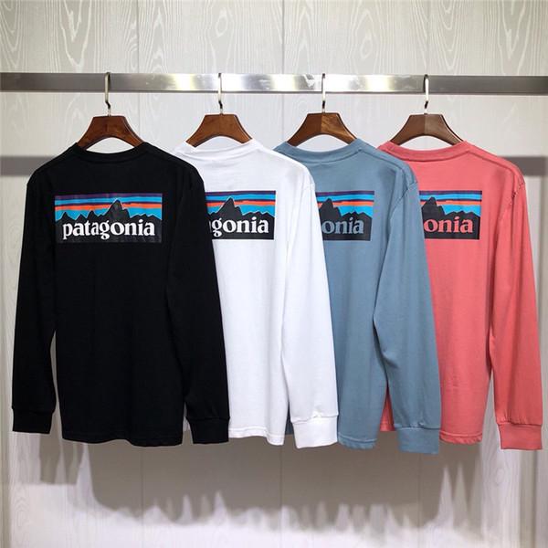 Patagonya Yeni Moda Erkek Tasarımcı Kapüşonlular Erkek Yüksek Kalite Spor Kapüşonlular Siyah Beyaz Mavi Erkekler Kadınlar Tasarımcı Pamuk Kazak