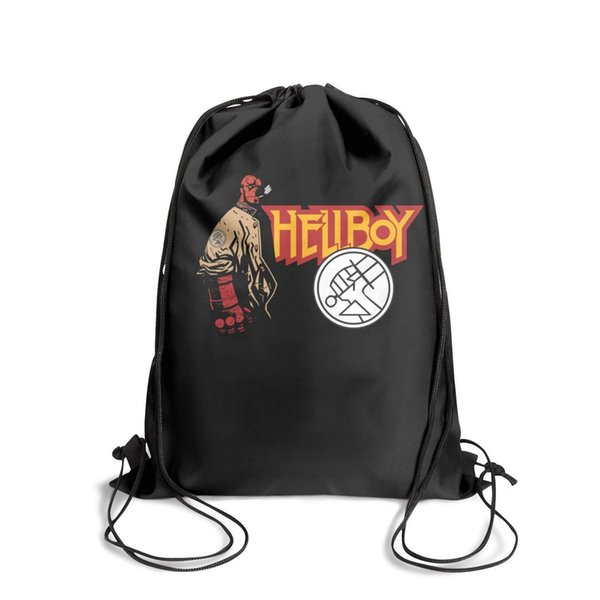 Drawstring Sports Backpack Famous Logos Of The World Hellboyfashion convenient Travel Beach Travel Fabric Backpack