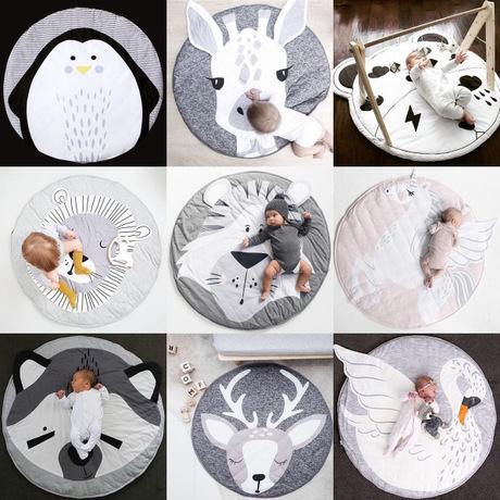 INS Baby Tappetini striscianti Volpe Cervo Unicorno Coniglio Leone Cigno Gioca Tappetino Decorativo Strisciante Coperta Tappeto per bambini 17 stili FJ510