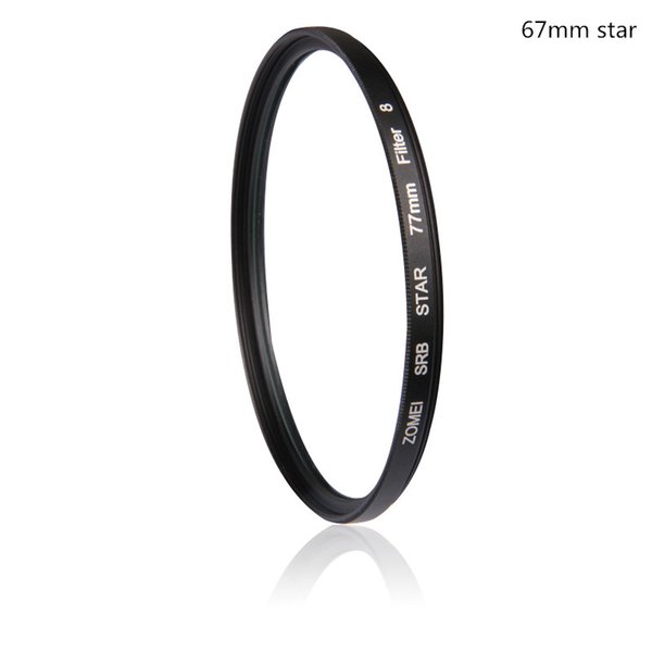 Professional Zomei 67mm 4 6 8 line Star Filter Evening Picture High Definition Filtro for Canon 700D Nikon Sony Camera Lens