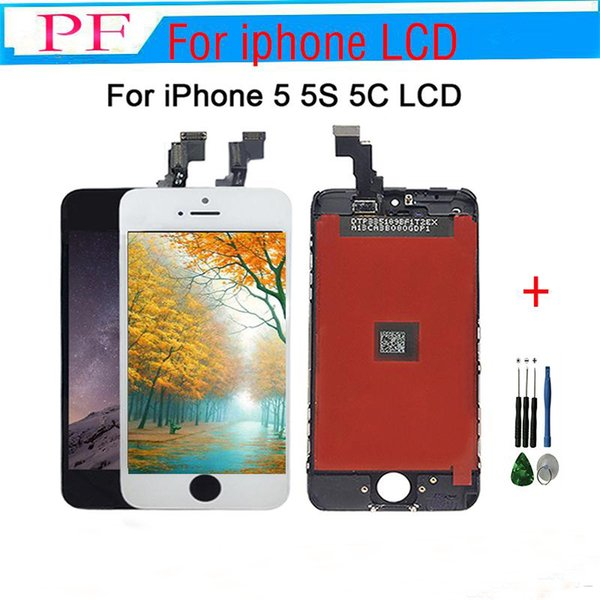 Factory Price Grade A++ LCD For iPhone 5 5S 5C LCD Display Touch Screen Digitizer Assembly Best Repair Replacement With Repair Tool